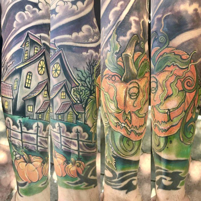 St Pete Tattoo Haunted Pumpkin by J Michael Taylor