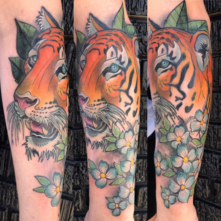 St Pete Tattoo Tiger Tattoo by J Michael Taylor