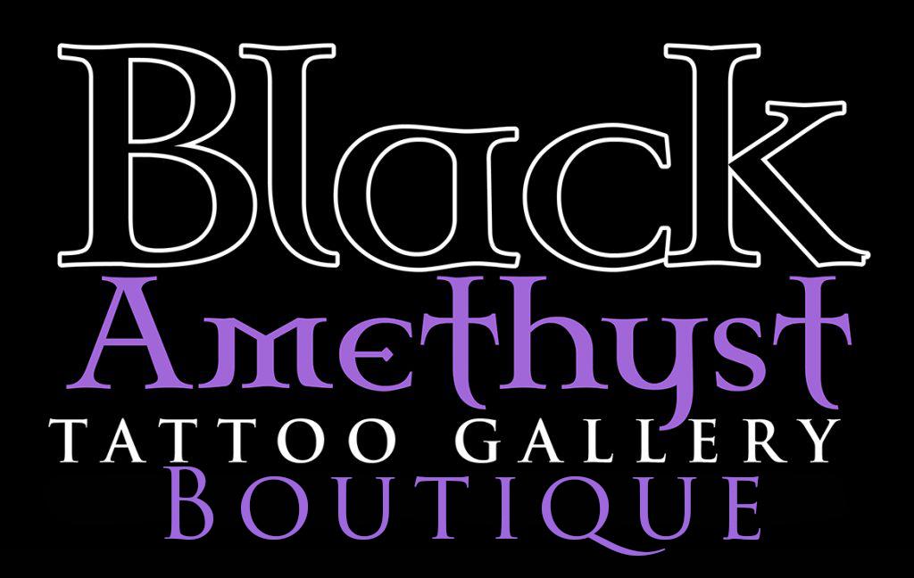 St Pete Tattoo Black Amethyst Tattoo Gallery Boutique Logo