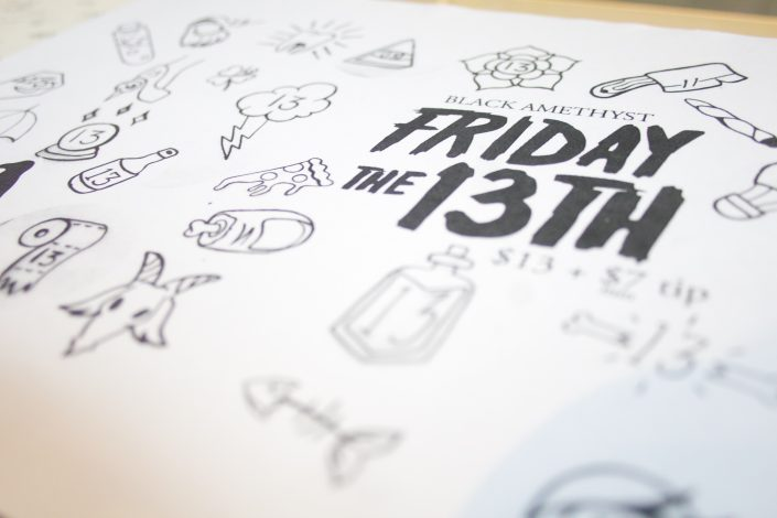 Friday 13th Flash Tattoo List at Black Amethyst Tattoo Shop
