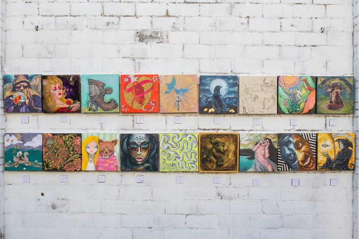Second Set of Eighteen Paintings at Black Amethyst Tattoo Gallery Art Show