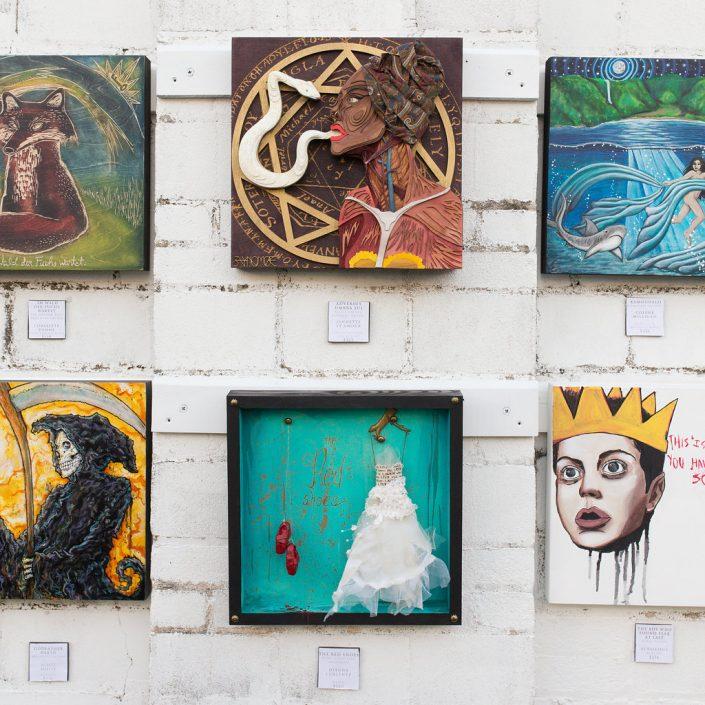 Multimedia Artwork at Black Amethyst Tattoo Gallery Art Show