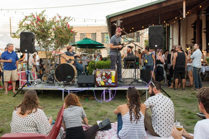 Local band Performing at Black Amethyst Tattoo Gallery Art Show