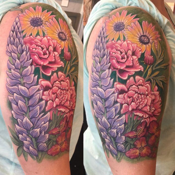 St Pete Tattoo Flower Garden Tattoo