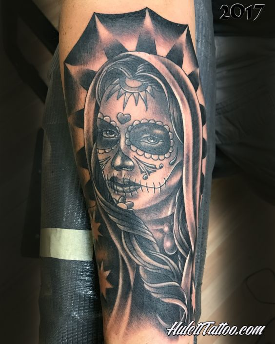 St Pete Day of the Dead Garcia Tattoo by Jeremy Hulett
