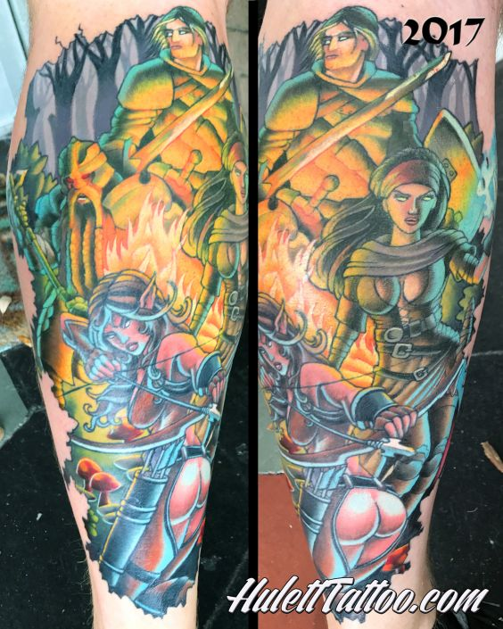 St Pete Tattoo DnD Camp Tattoo by Jeremy Hulett