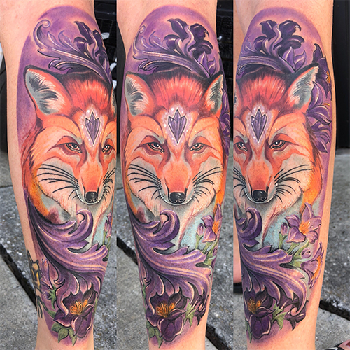 St Pete Tattoo Amethyst Fox by J Michael Taylor
