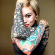 Color vs Grey Tattoo Woman for Tattoo Blog Post