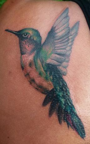St Pete Tattoo Hummingbird Painting Tattoo by Amanda Banx