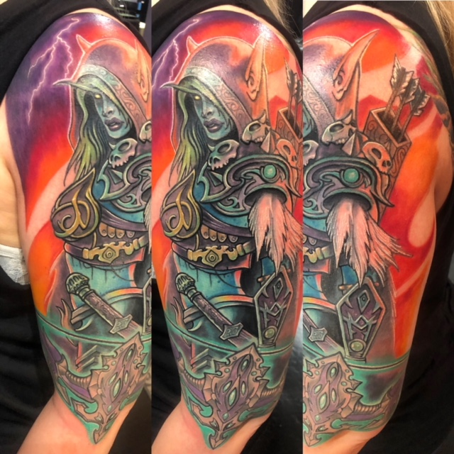 Lady Slyvanas World of Warcraft Tattoo by J Michael Taylor