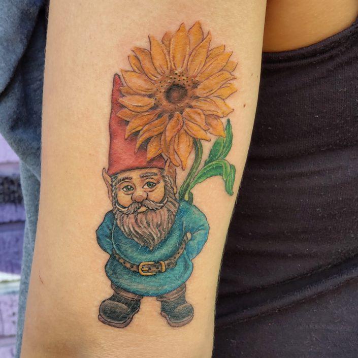 Sunflow Gnome St Pete Tattoo