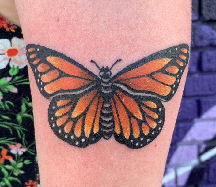 Monarch Butterfly Tattoo by Shannon Haines