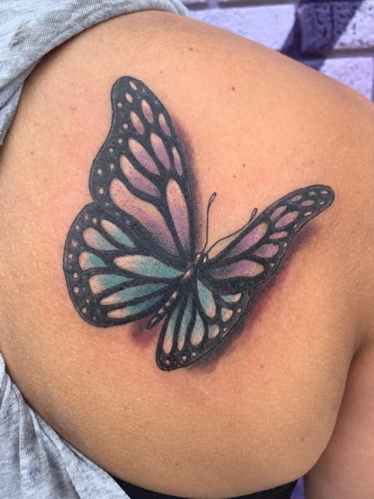 3D Butterfly St Pete Tattoo