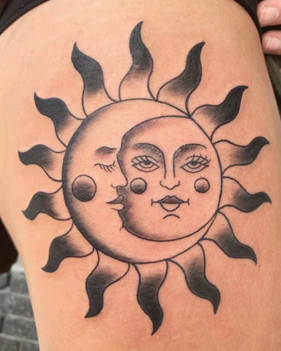 Sun and Moon St Pete Tattoo